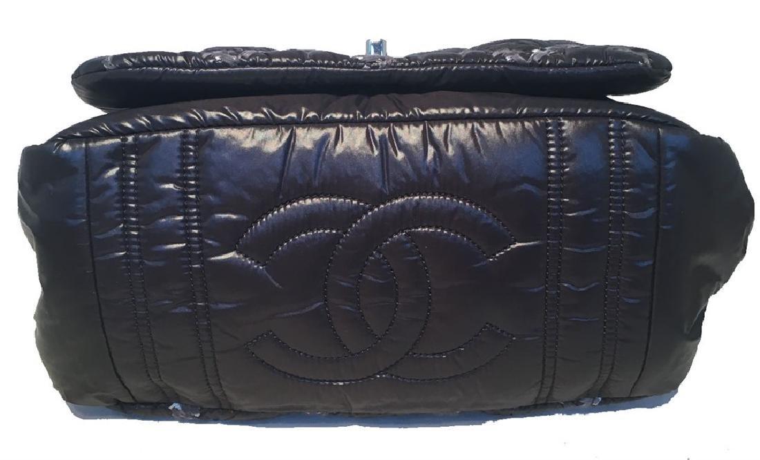 Chanel Puffy Black Nylon Raincoat Classic Flap Shoulder - 4