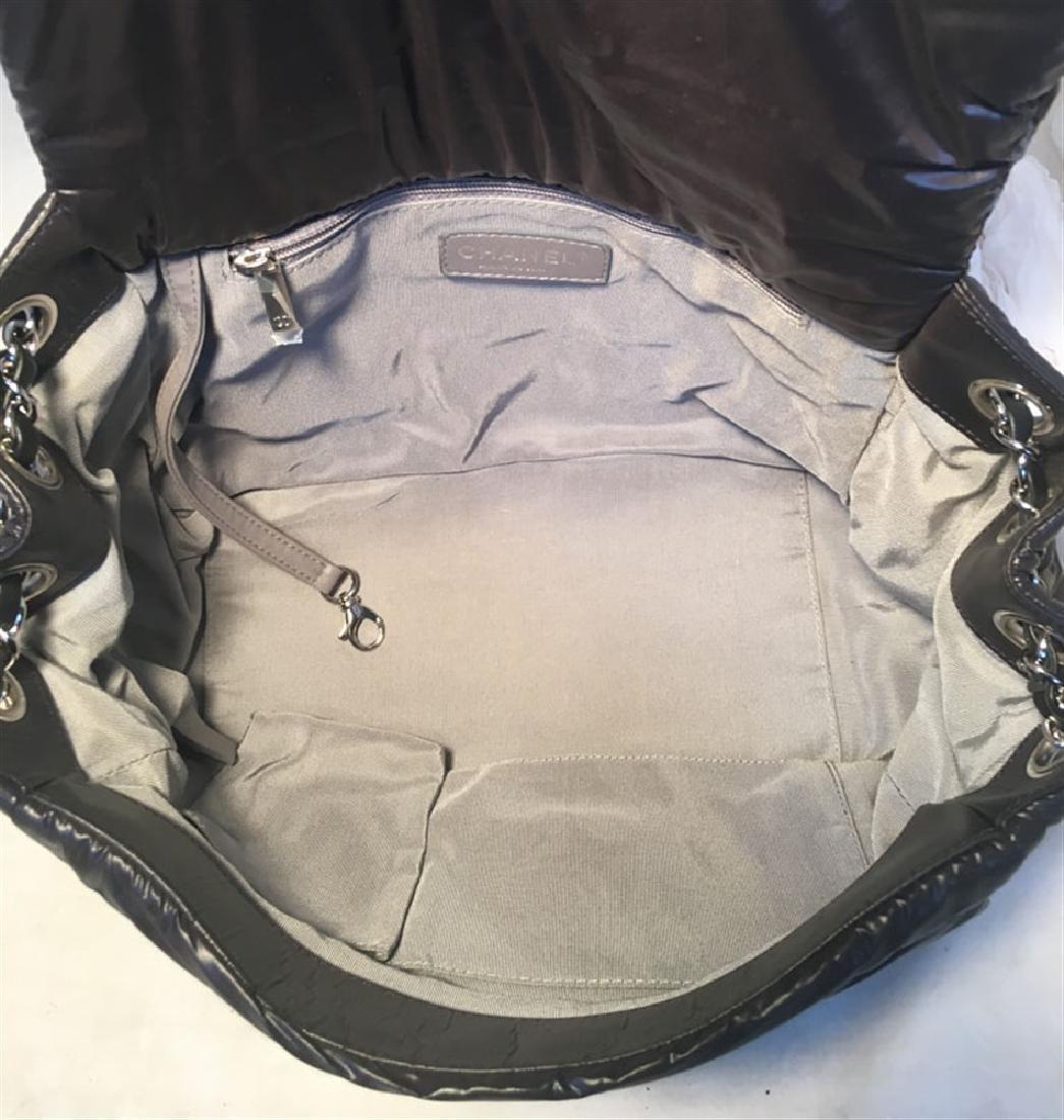 Chanel Puffy Black Nylon Raincoat Classic Flap Shoulder - 6