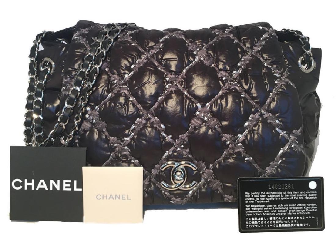 Chanel Puffy Black Nylon Raincoat Classic Flap Shoulder - 7