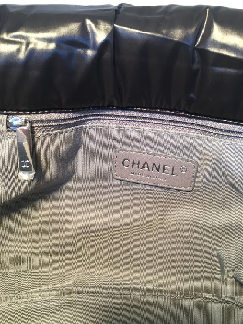 Chanel Puffy Black Nylon Raincoat Classic Flap Shoulder - 9