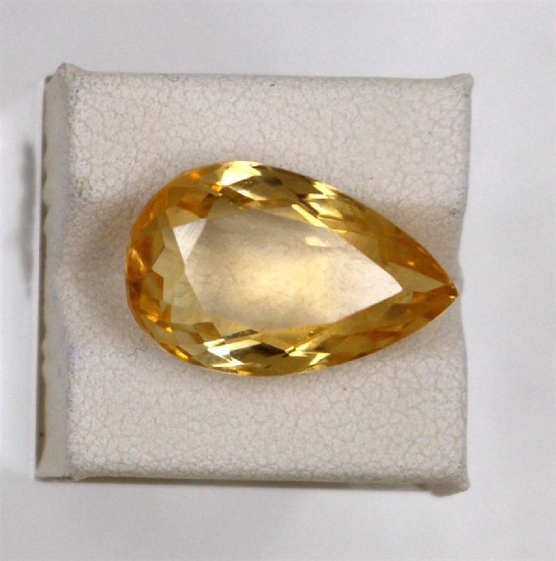 11.44ct Natural citrine pear Cut
