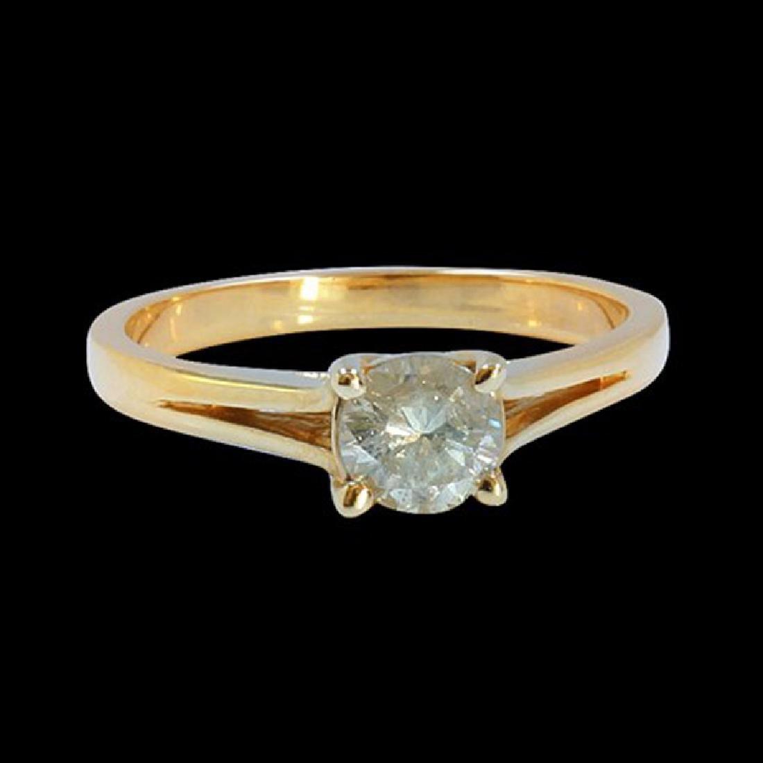 0.60CT NATURAL DIAMOND 14K YELLOW GOLD RING