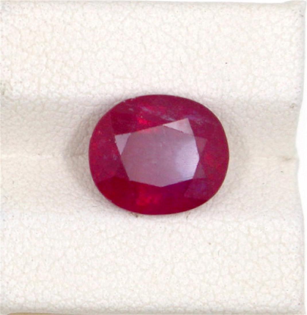 4.94ct  ruby oval cut