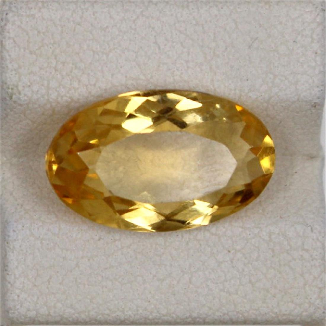 6.61ct Natural citrie oval cut