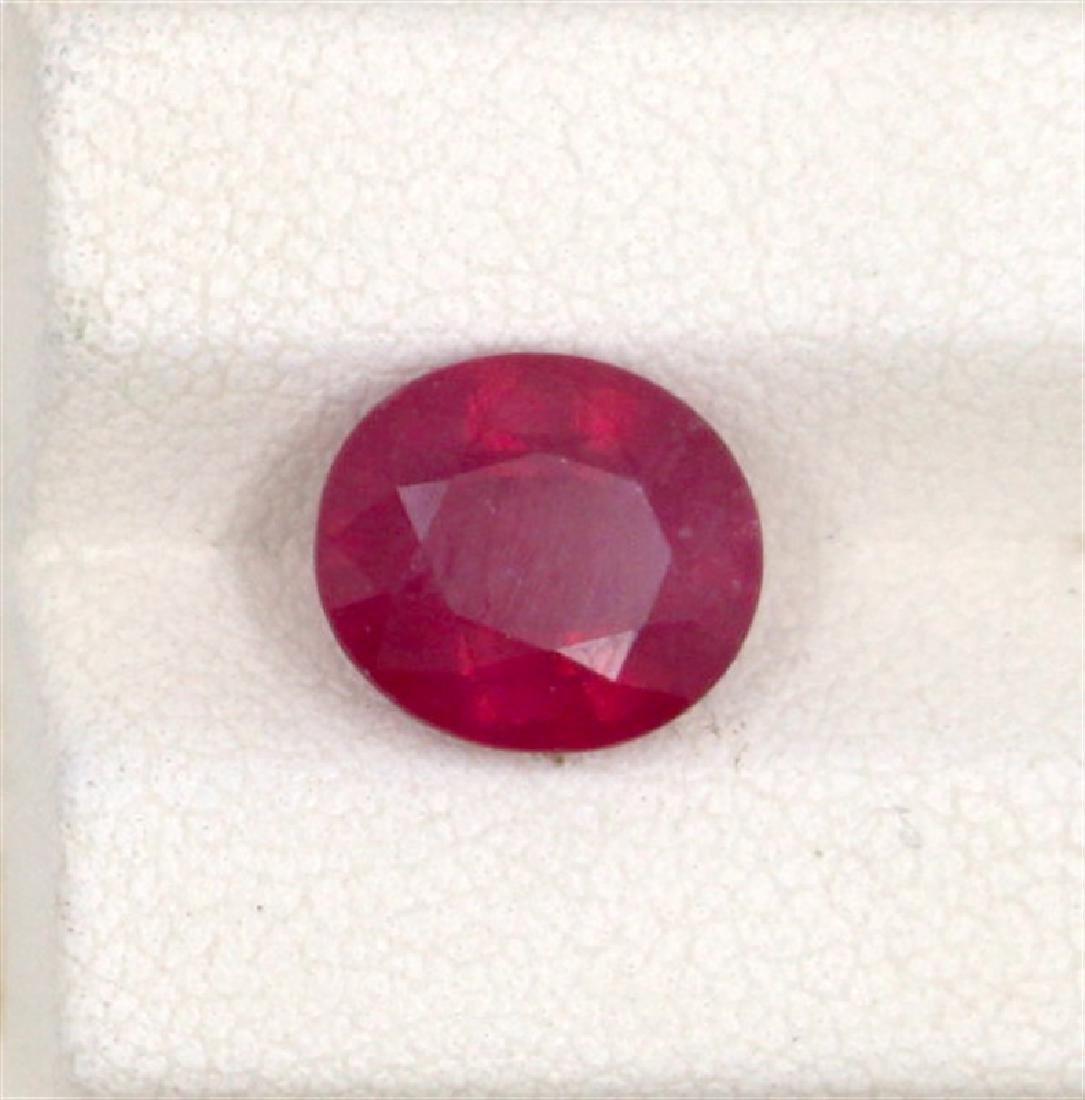 4.06ct  ruby oval cut