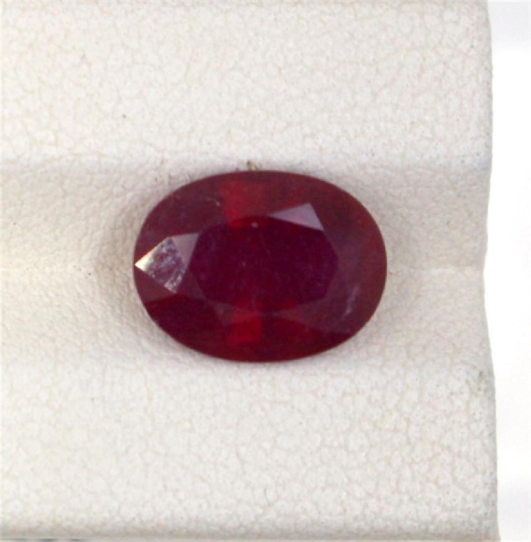 4.26ct  ruby oval cut