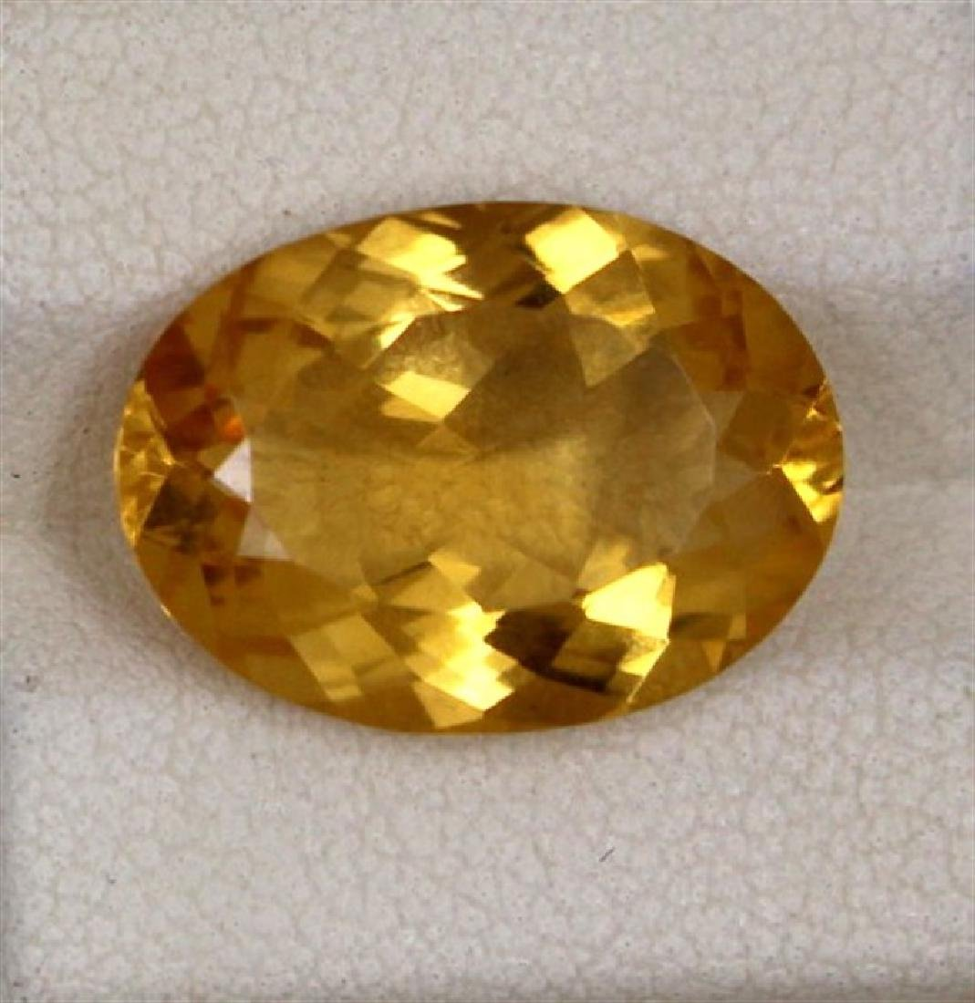 7.54ct Natural citrine oval cut