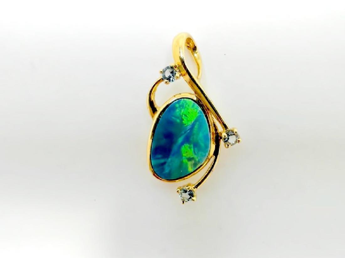1.31ct Opal 14K YG Pendant