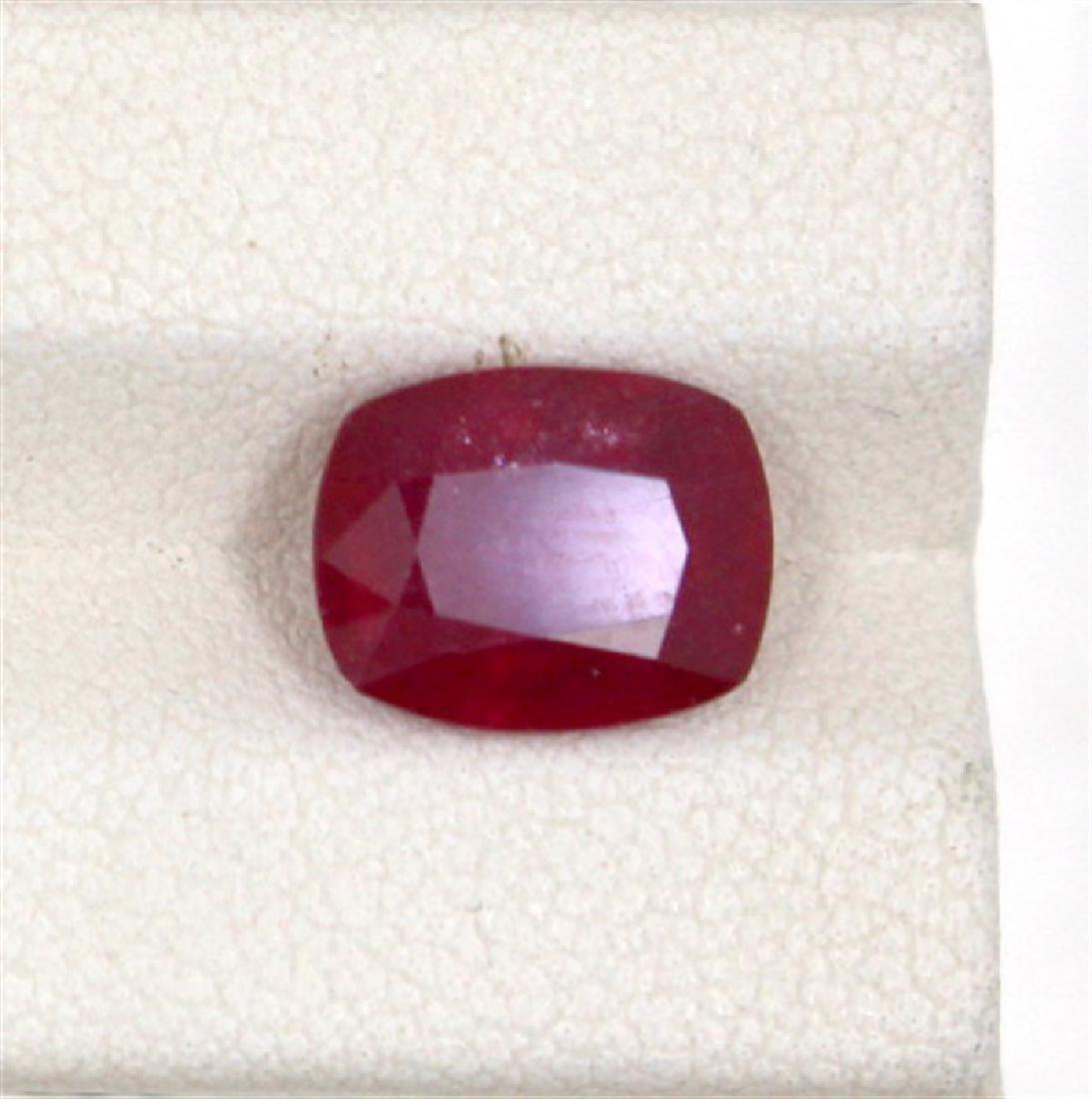 3.46ct  ruby emerald cut