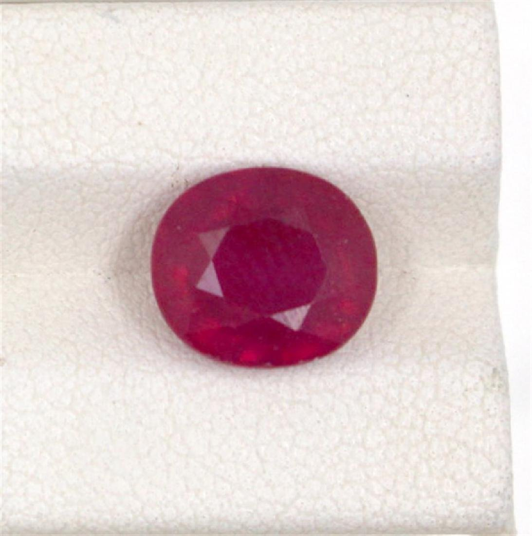 4.87ct  ruby oval cut