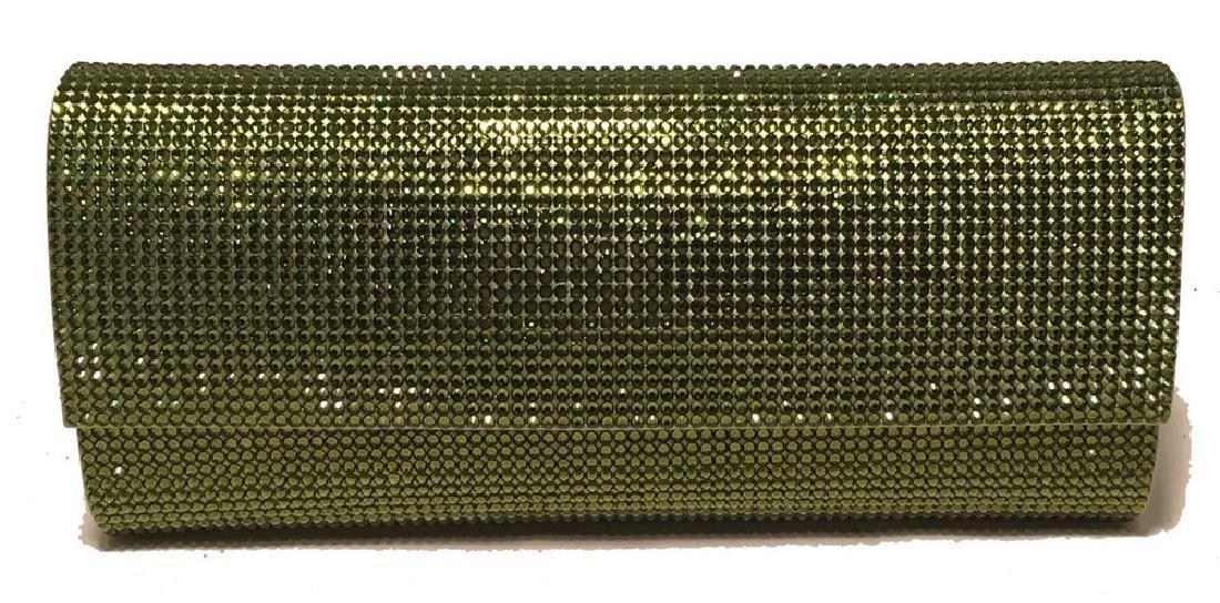 Judith Leiber Green Crystal Evening Bag Clutch