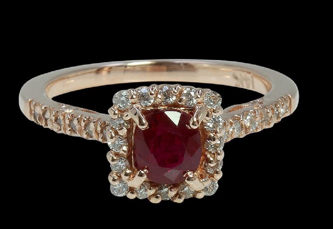 0.99ct Ruby 14K Rose Gold Ring