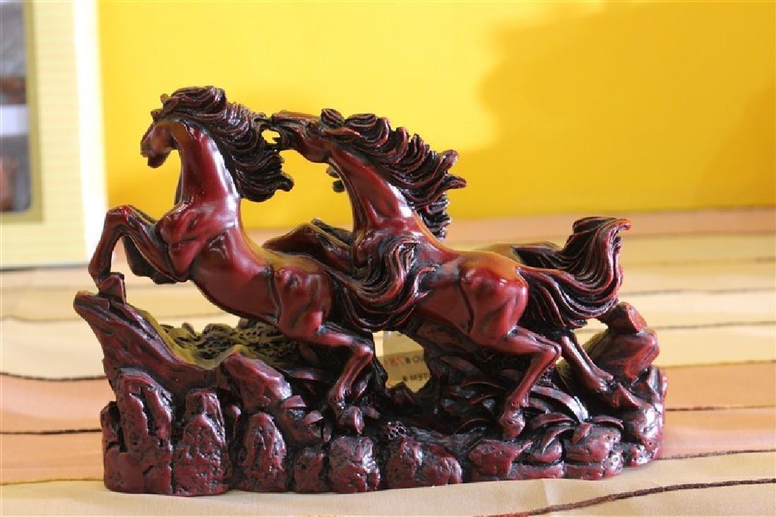 Divine Red Wild Horses Gift Item