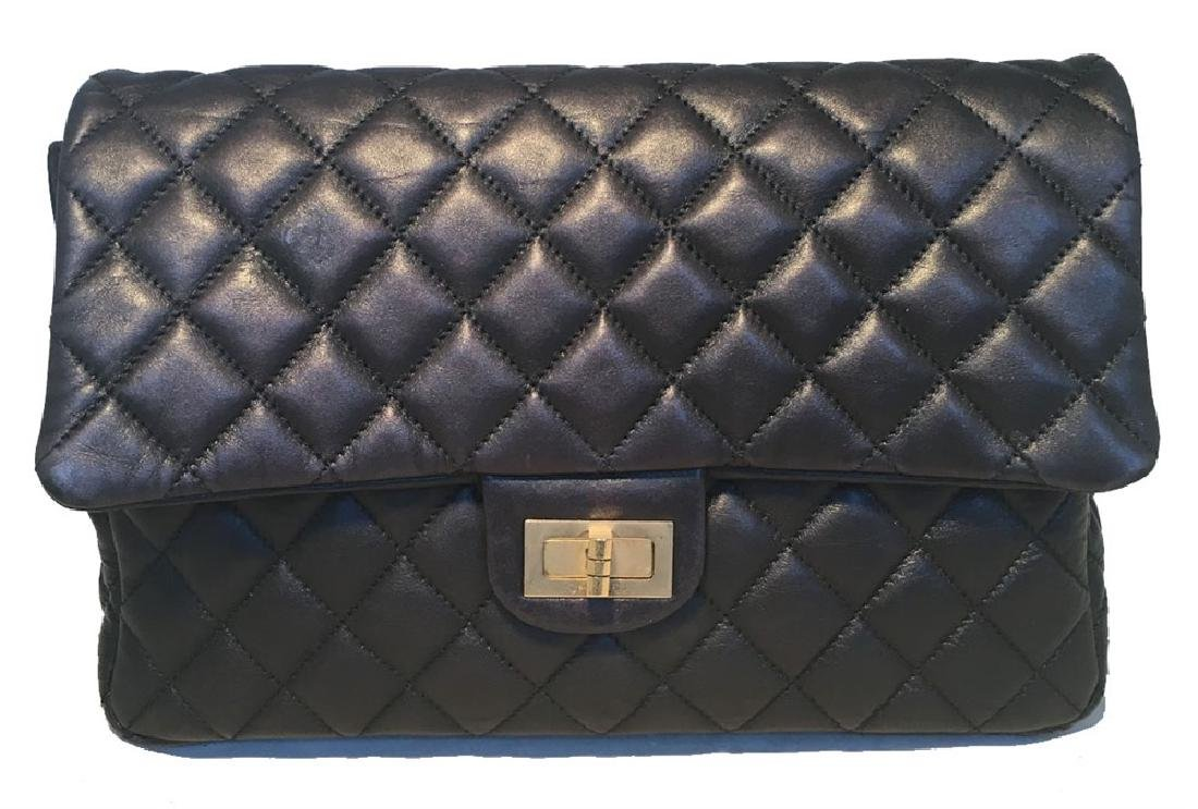 Chanel Black Quilted Soft Lambskin Leather Classic Flap