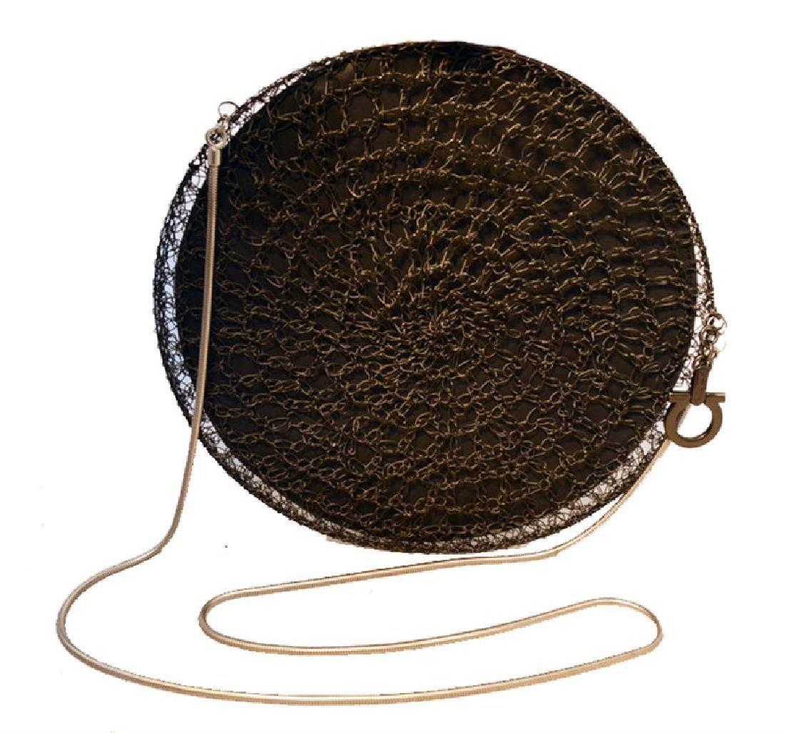 Salvatore Ferragamo Black Wire Cage Shoulder Bag