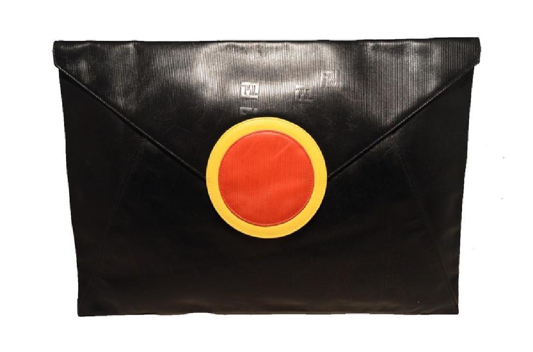 Fendi Fabulous Vintage Oversize Black Envelope