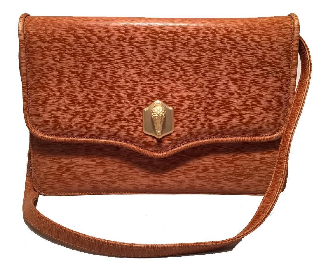 Barry Kiselstein Cord Tan Leather Shoulder Bag