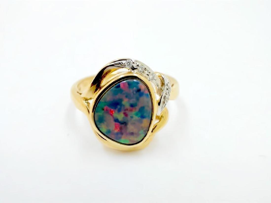 1.13ct Opal 14K YG Ring