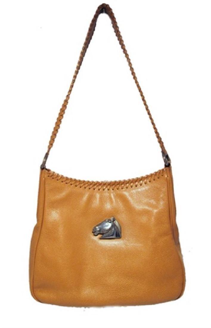 Barry Kieselstien-Cord Tan Leather Shoulder Bag