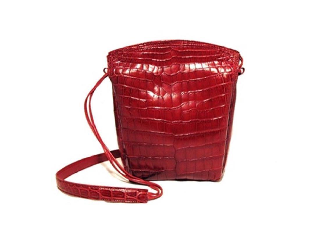 Private Lable Red Crocodile Shoulder Bag