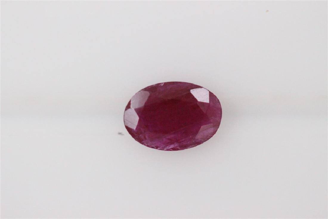0.64ct Ruby(No-glass) Oval cut