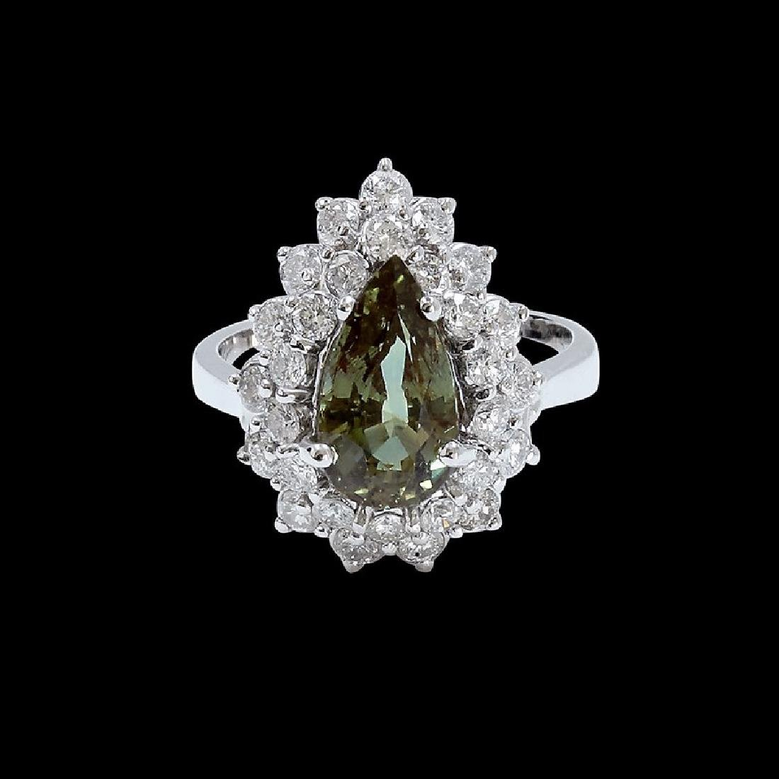 3.11ct Alexandrite 18K White Gold Ring