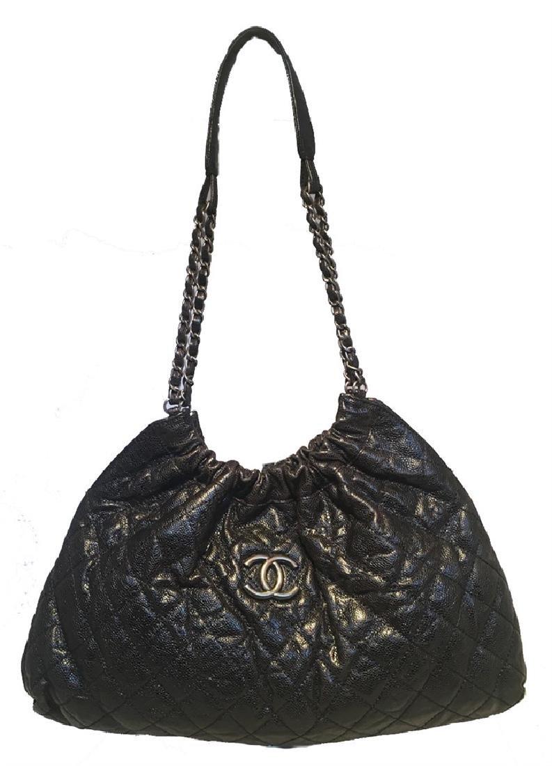 Chanel Black Quilted Caviar Shoulder Bag