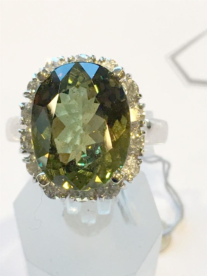 8.44CT Natural Alexandrite 14K White Gold Ring