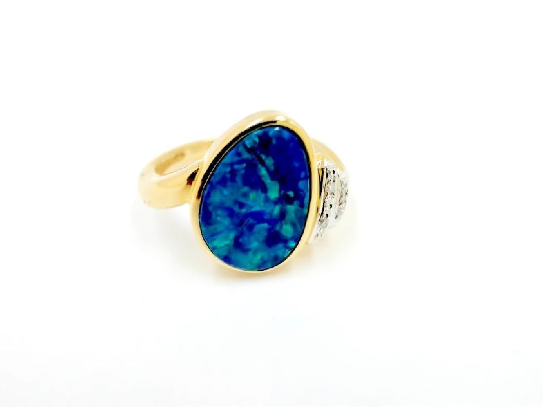 2.03ct opal 14K YG Ring