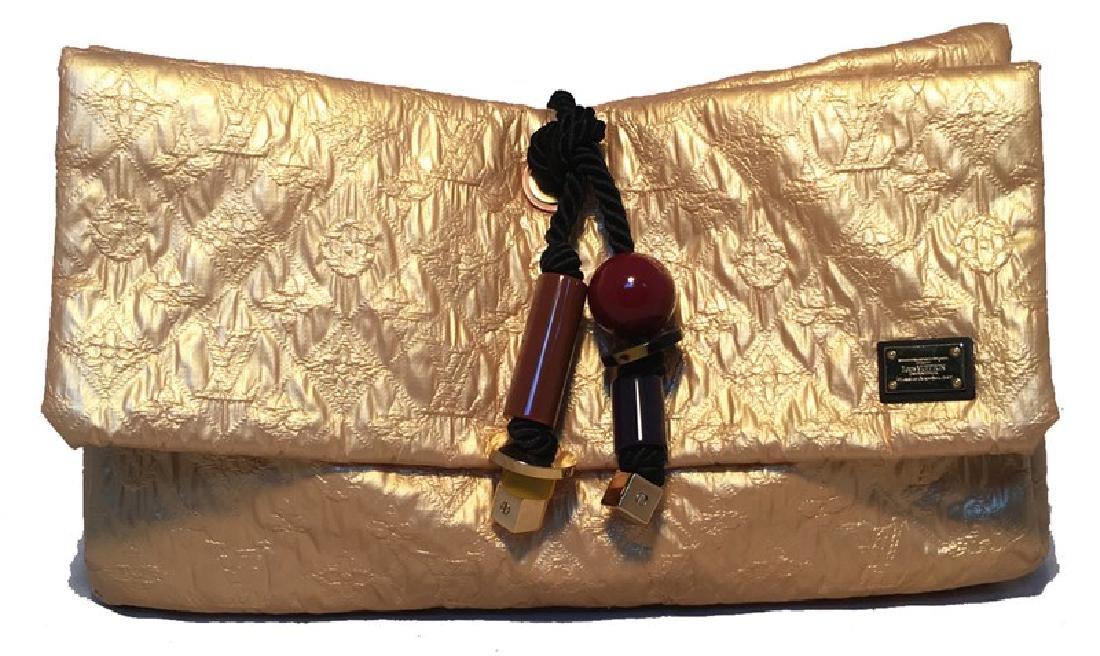 Louis Vuitton Gold Leather African Queen Masai GM