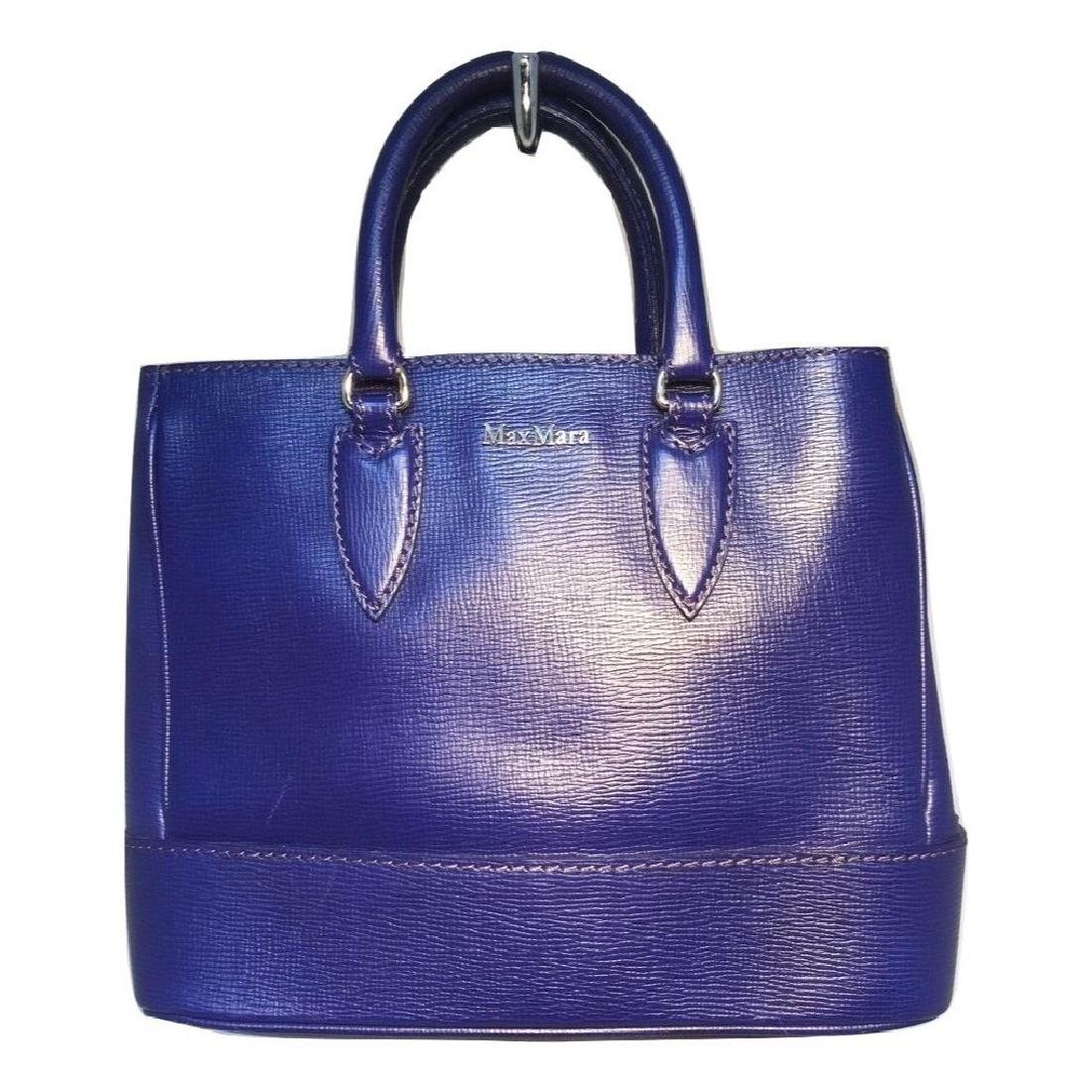 Max Mara Royal Blue Leather Handbag