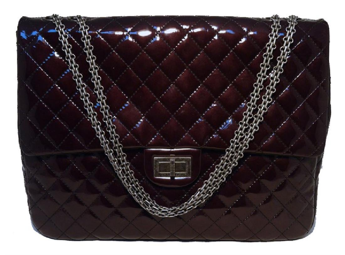 RARE Chanel Quilted Patent Leather Reissue Classic Flap