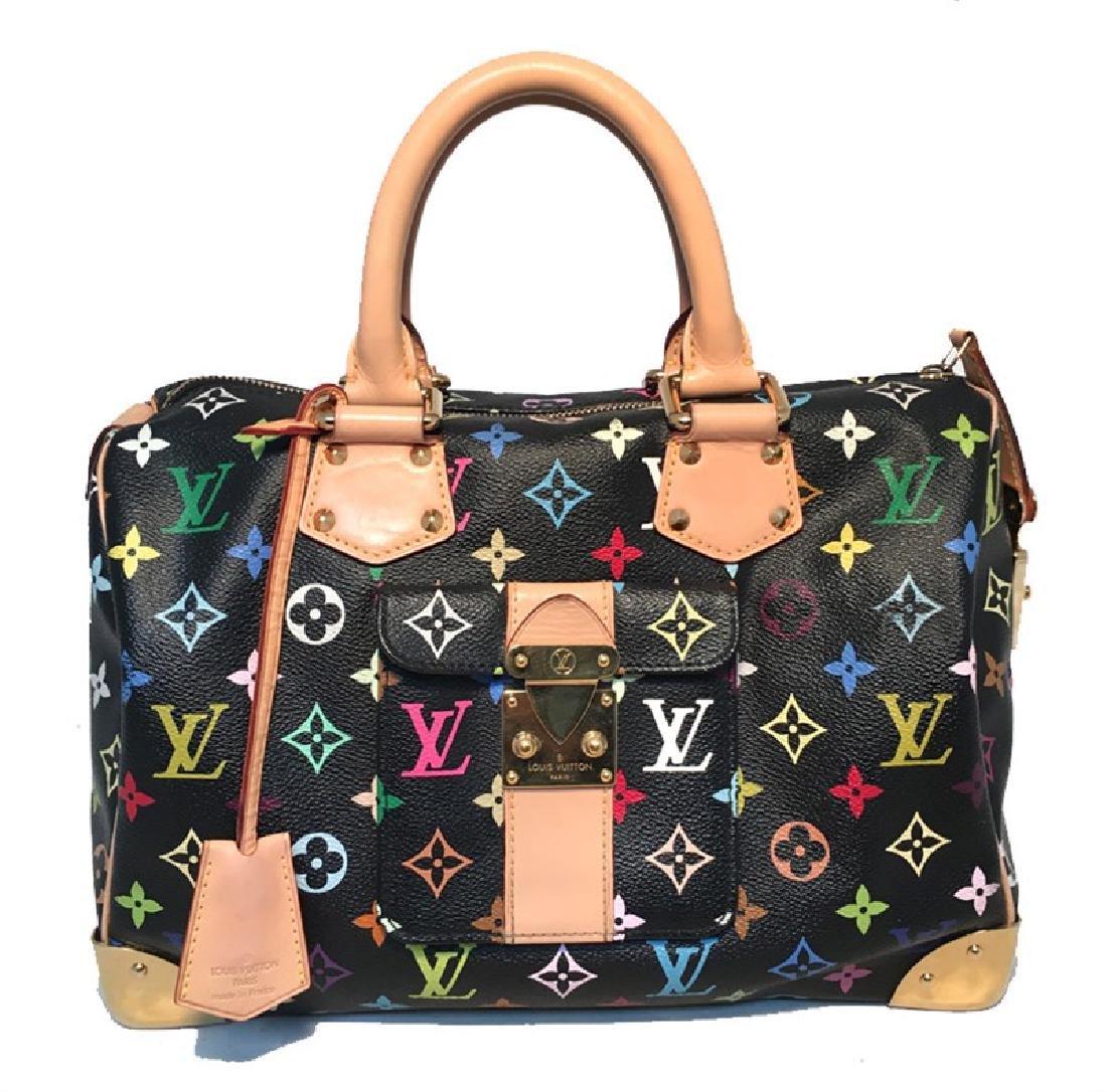 Limited Edition Louis Vuitton Black Monogram Murkami