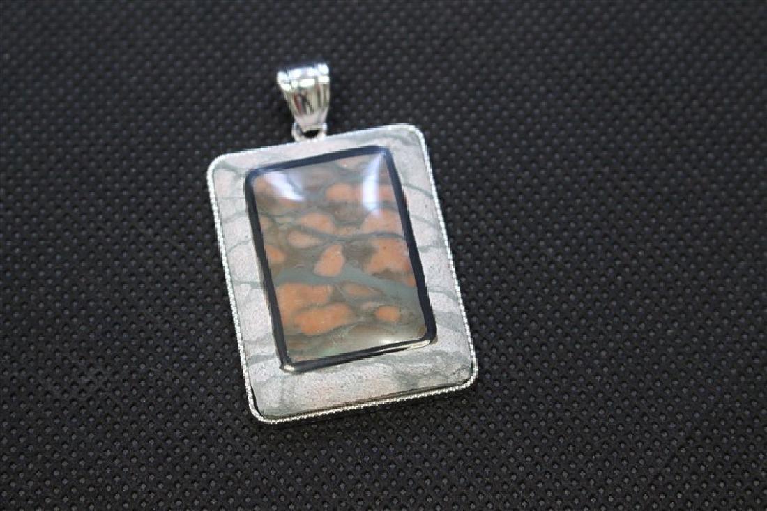 32X47 M.M. Plain Rectangle Rainbow Zebra Stone #120