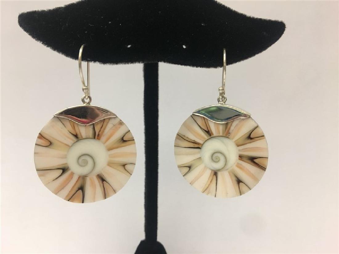 Sterling Silver W/ Mop Oval Earring