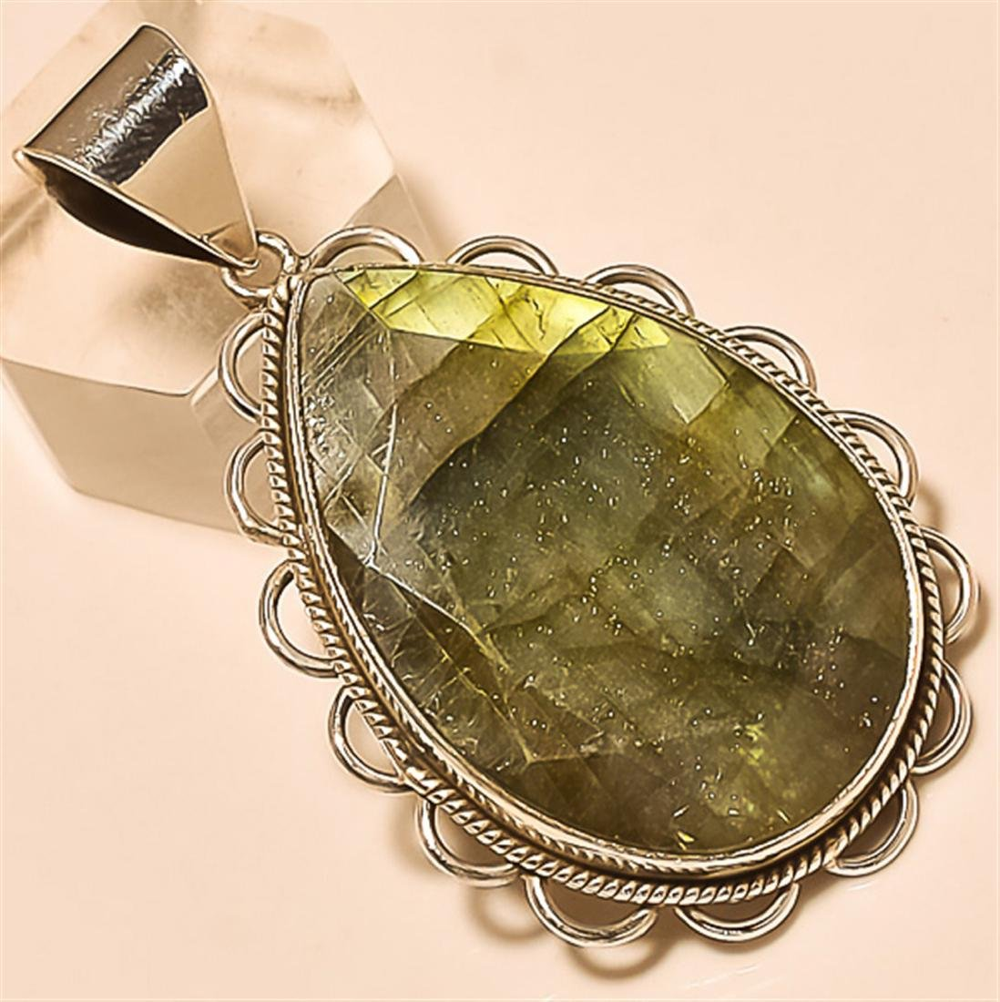 LAbradorite Pendant Solid Sterling Silver