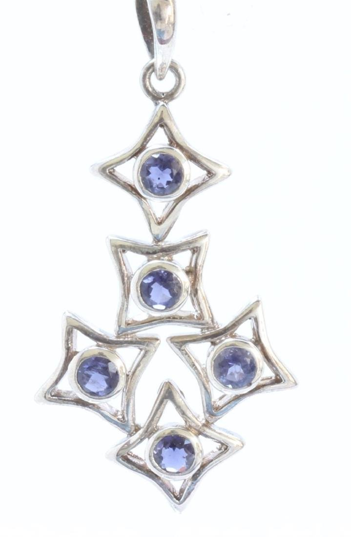 Silver Plated Amethyst Pendant ctw
