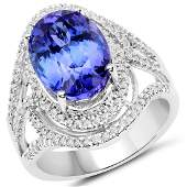 654ct Tanzanite 14K White Gold Ring