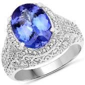 422ct Tanzanite 14K White Gold Ring