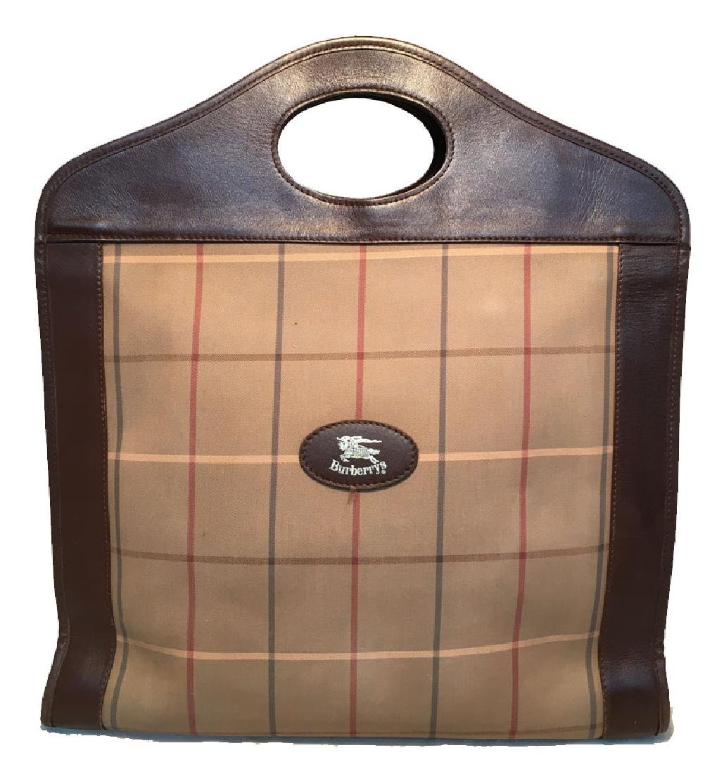 Burberry Vintage Brown Plaid Tote