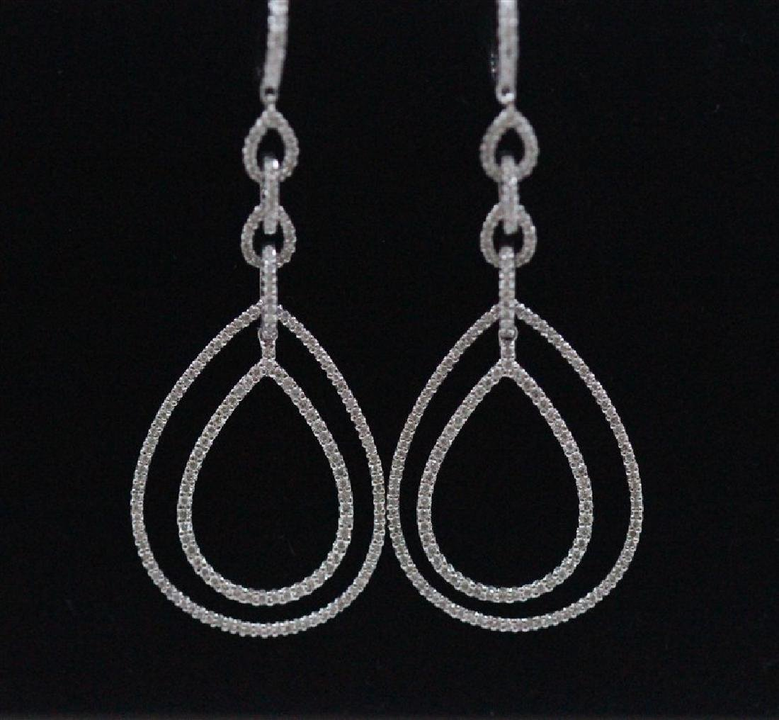 18K White Gold Diamond Earring; Gold-12.21 Grams ;