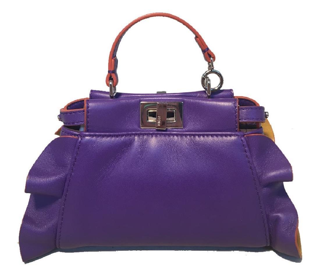 Fendi Micro Mini Peekaboo Bag in Purple and Amber