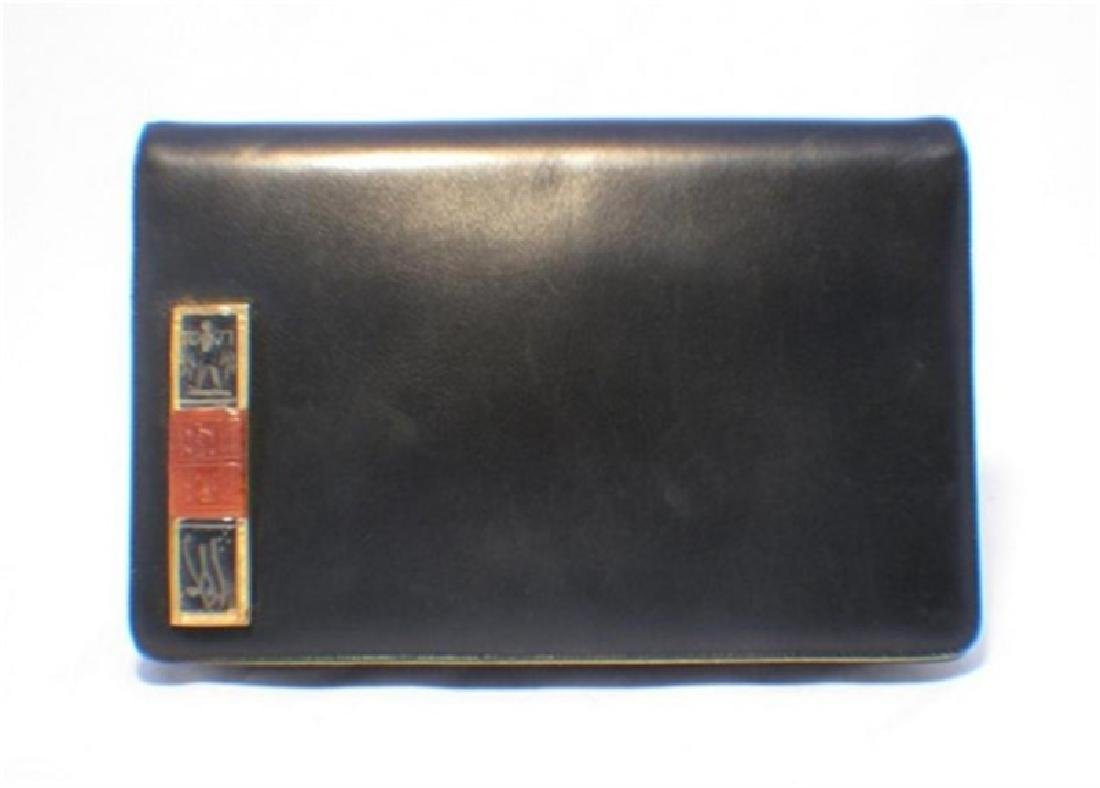 Judith Leiber Black Egyptian Clutch
