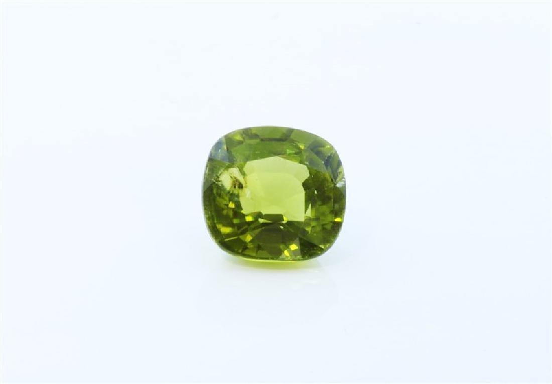 4.16ct Cushion Shape Green Tourmaline