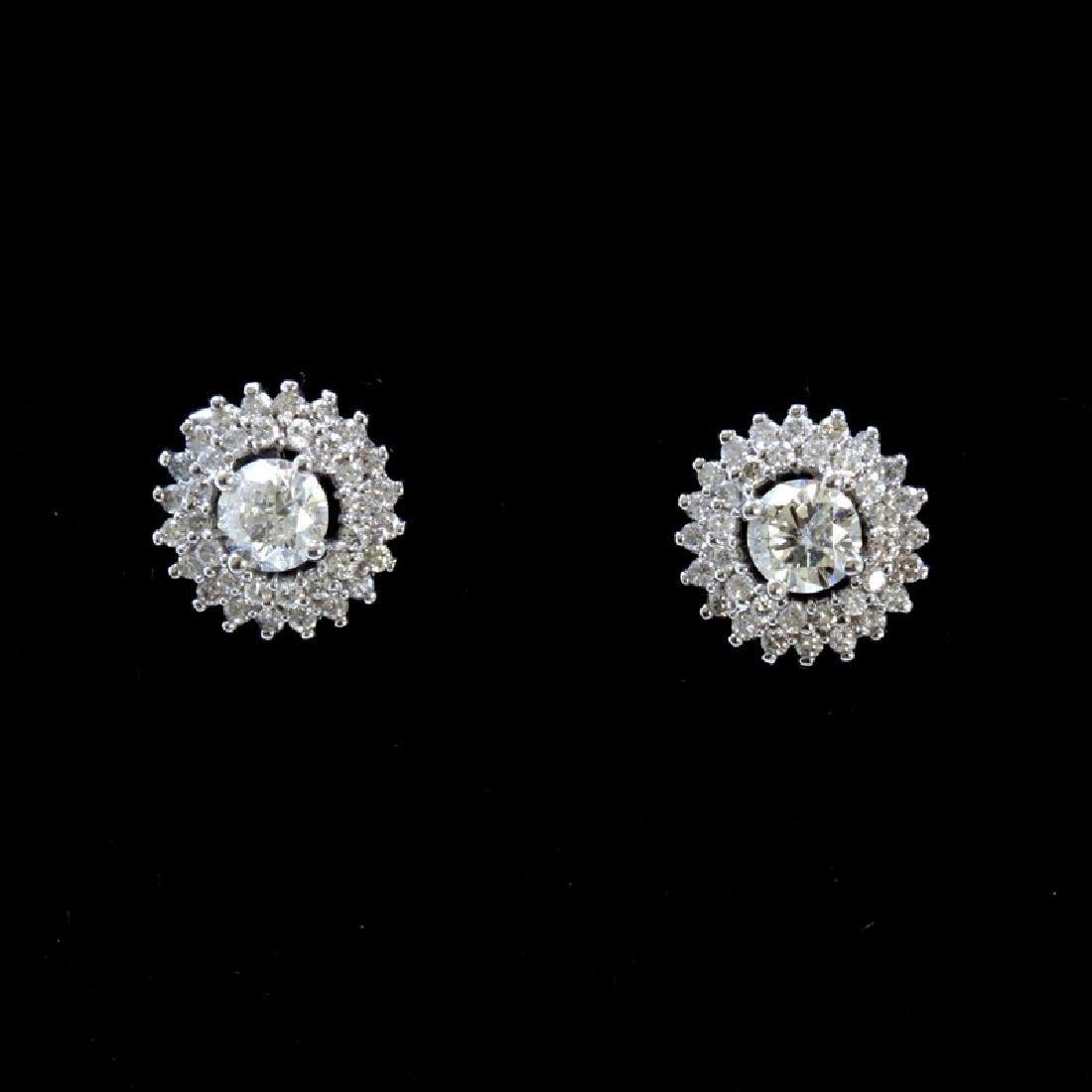 2.58ct Diamond 18K White Gold Earring