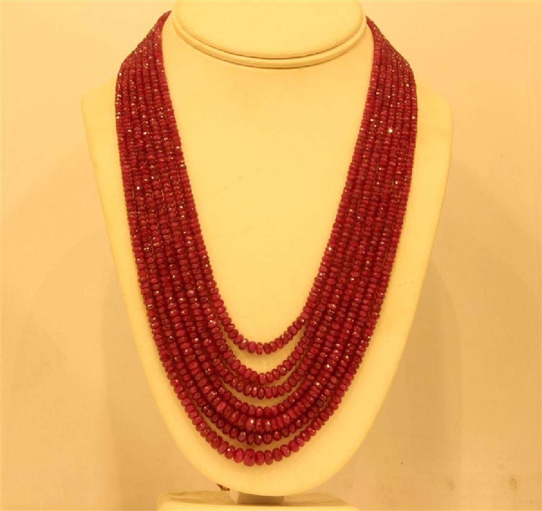 532ct Faceted Bati Corondium Beads Necklace