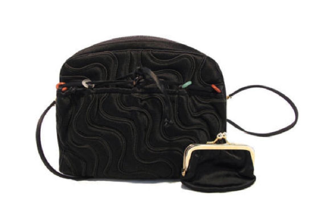 Vintage Judith Leiber for Bonwit Teller Black Silk