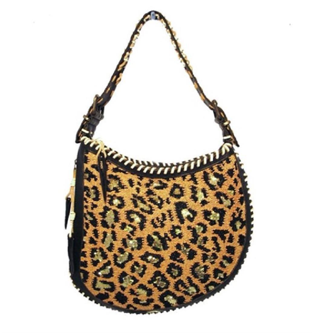 Fendi Beaded Safari Shoulder Bag