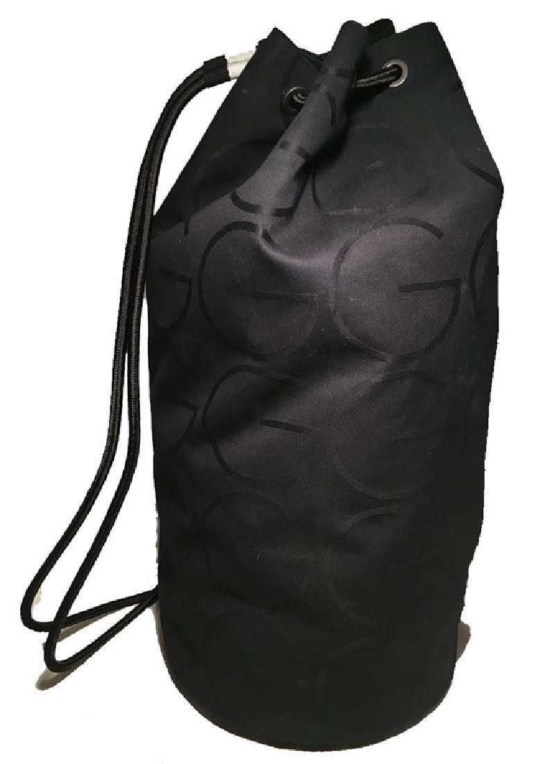 RARE Gucci Black Canvas Sling Backpack Bag