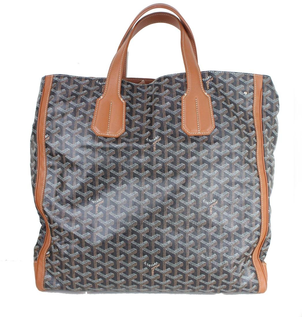 GOYARD Chevron Voltaire Tote Brown
